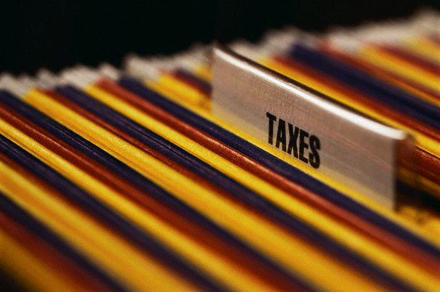 """""""Taxes"""" File Folder"""